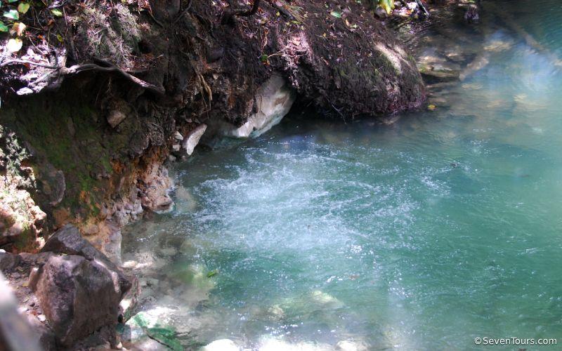 Bubbling hot springs